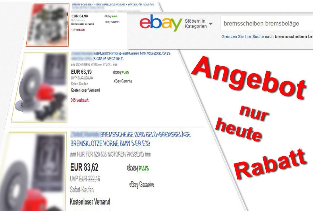 Illustration billige ebay-Angebote